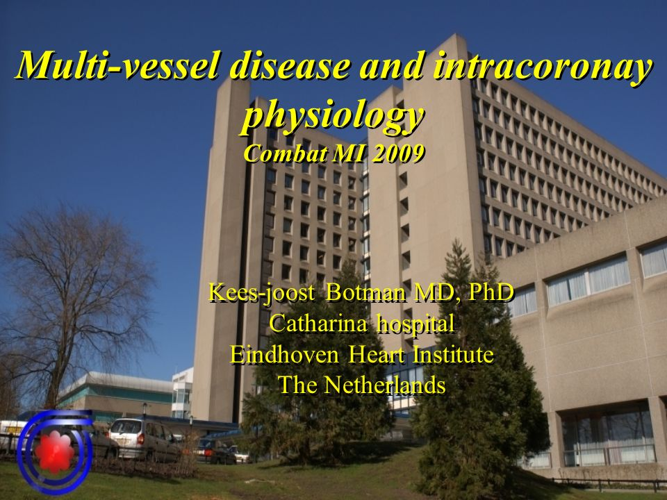 Multi-vessel disease and intracoronay physiology Combat MI 2009 Kees-joost Botman MD, PhD Catharina hospital Eindhoven Heart Institute The Netherlands Kees-joost Botman MD, PhD Catharina hospital Eindhoven Heart Institute The Netherlands