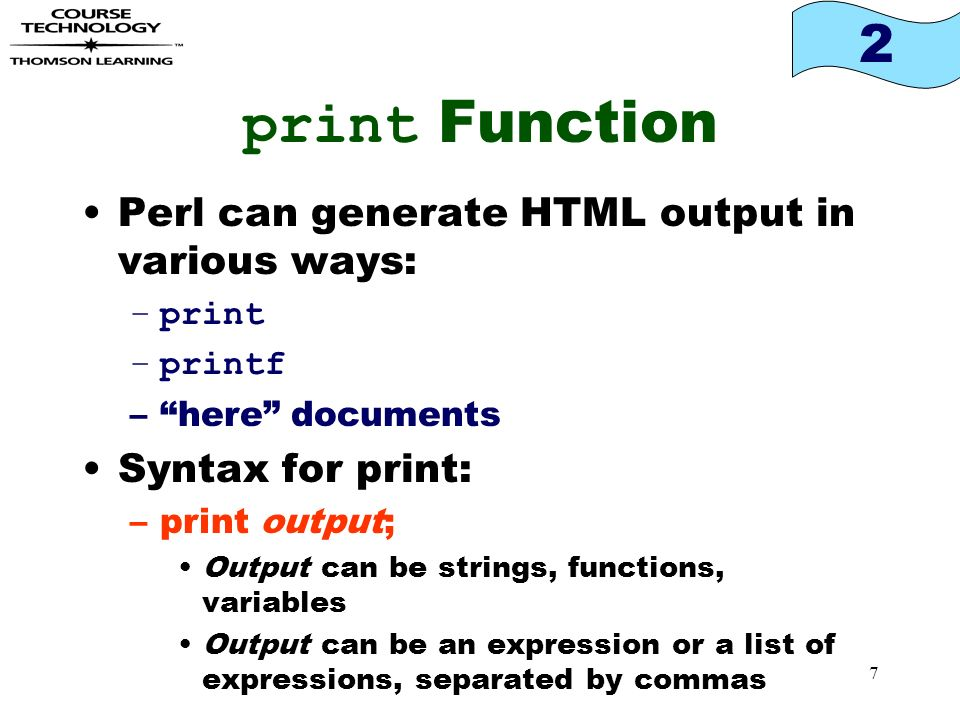 7 2 Print Function Perl