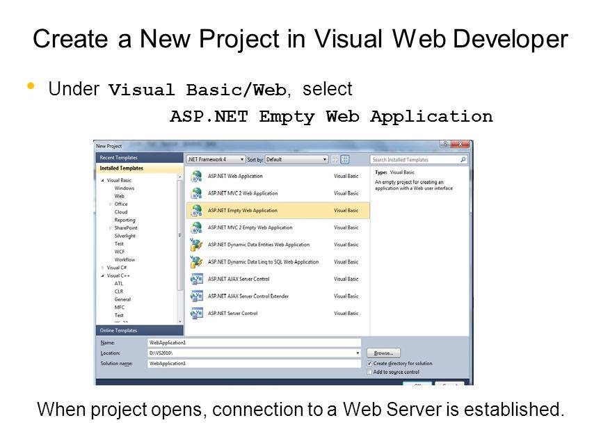 Web Programming: Client/Server Applications Server sends the web