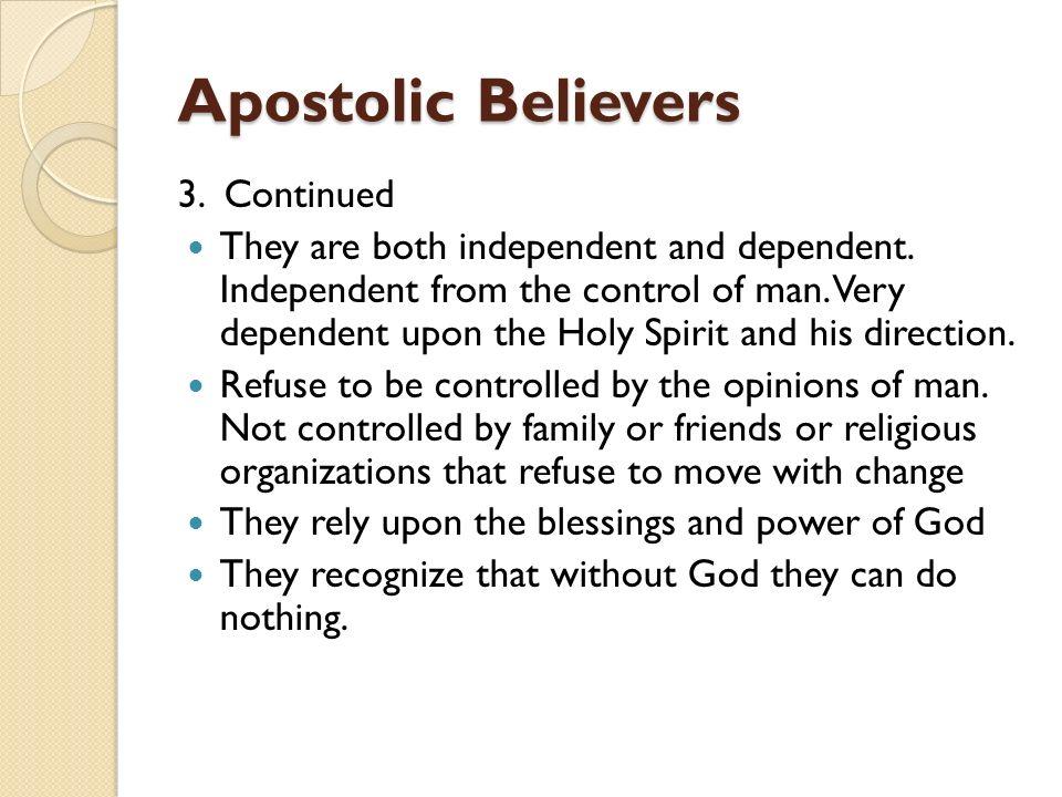 """Apostolic Believers """"Ordinary people Extraordinary Power"""