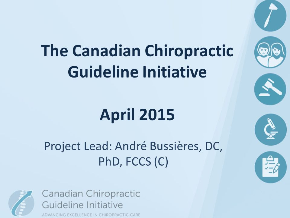 Research Priorities of the Canadian Chiropractic Profession