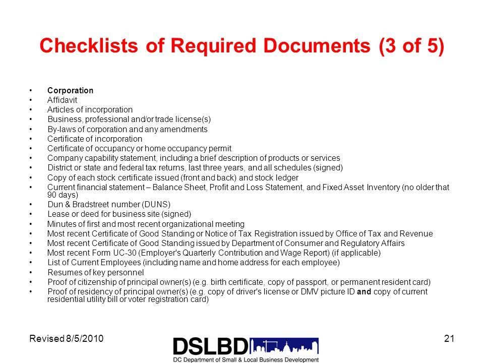 Revised 8/5/20101 Certified Business Enterprise Program Department ...