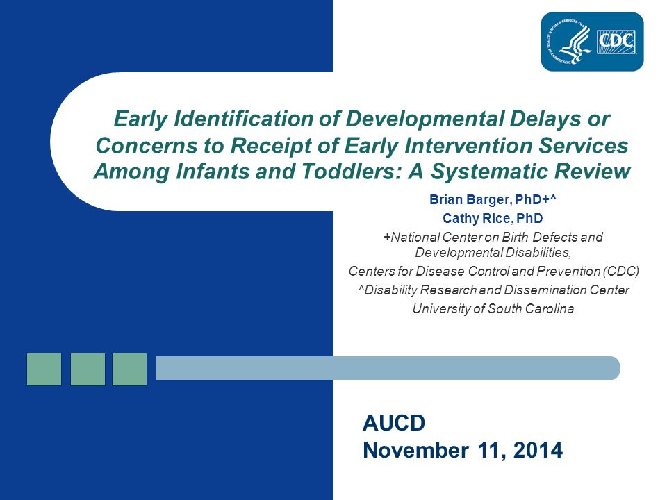 Cdc Says Developmental Disabilities Are >> Brian Barger Phd Cathy Rice Phd National Center On Birth