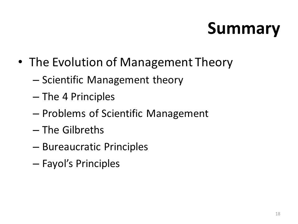 the principles of scientific management summary