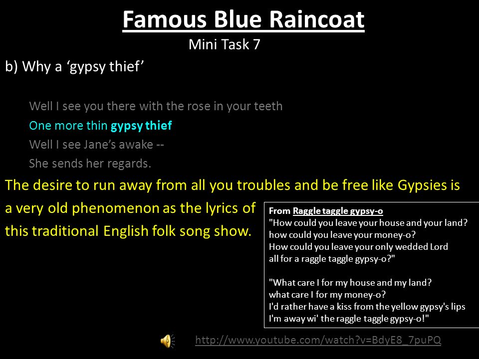 Lyric mini thin breaking down lyrics : Famous Blue Raincoat by Leonard Cohen. Starter Write a few words ...