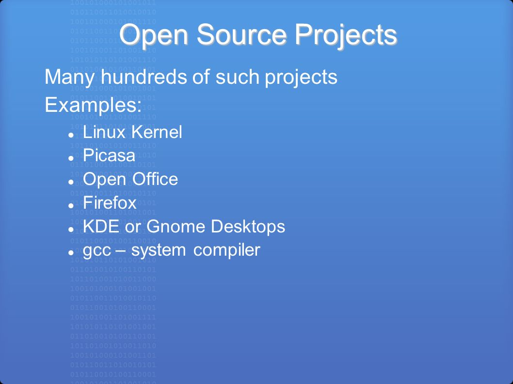 Open-Source Software (OSS) and Linux Feb  25, 2008 by Larry