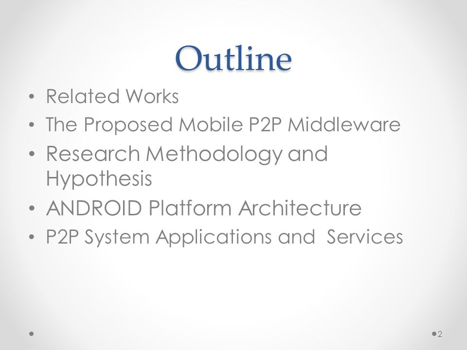 Peer-to-Peer Communication on Android-Based Mobile Devices