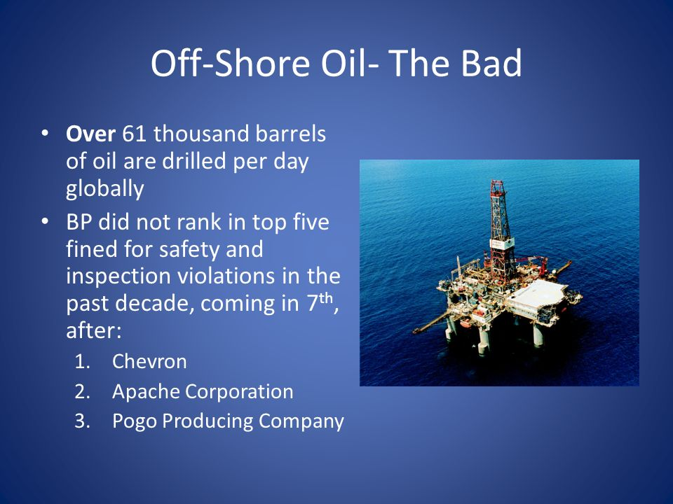 EXTRACTION Offshore oil drilling  Off-Shore Drilling- The