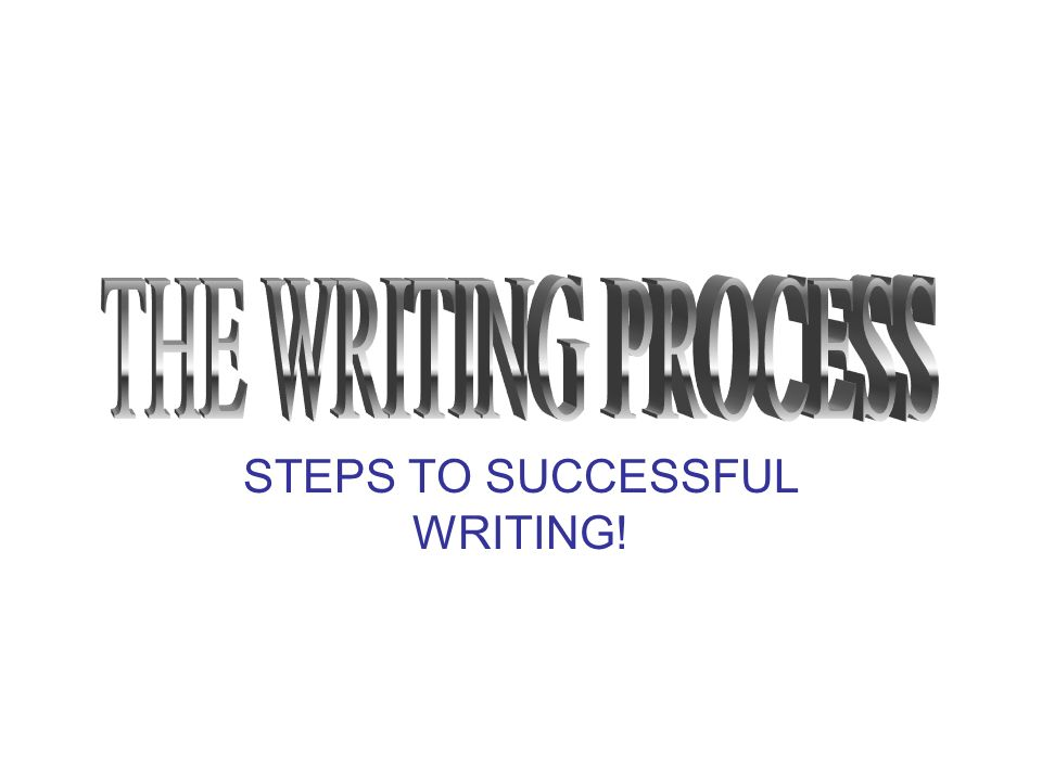 STEPS TO SUCCESSFUL WRITING!