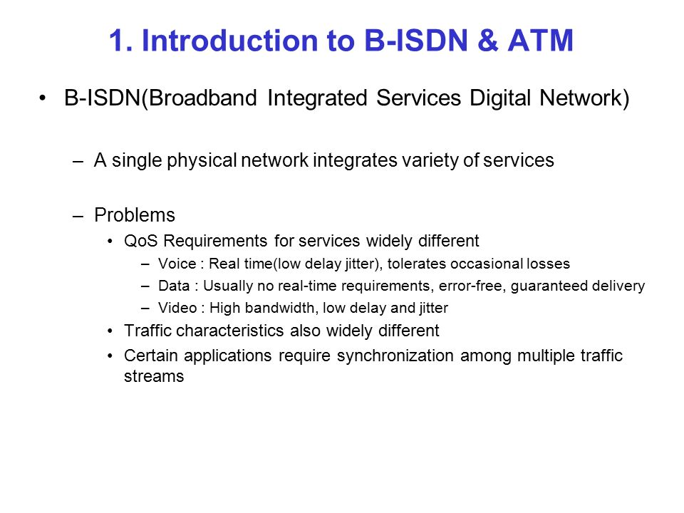 Broadband ISDN and ATM 발표자 : 박종민 - ppt download on