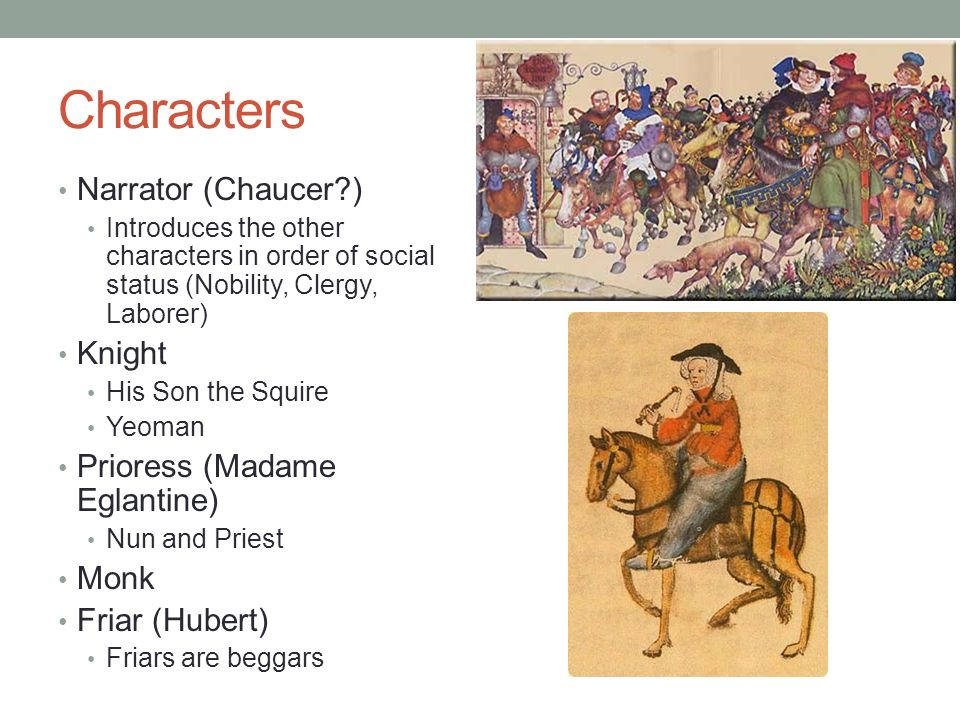 characterization in canterbury tales Learn about the characters in geoffrey chaucer's collection of stories the canterbury tales with course hero's video study guide download the free study guide and infographic for geoffrey chaucer.