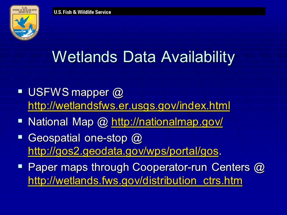 Wetlands Data Availability  USFWS      National      Geospatial