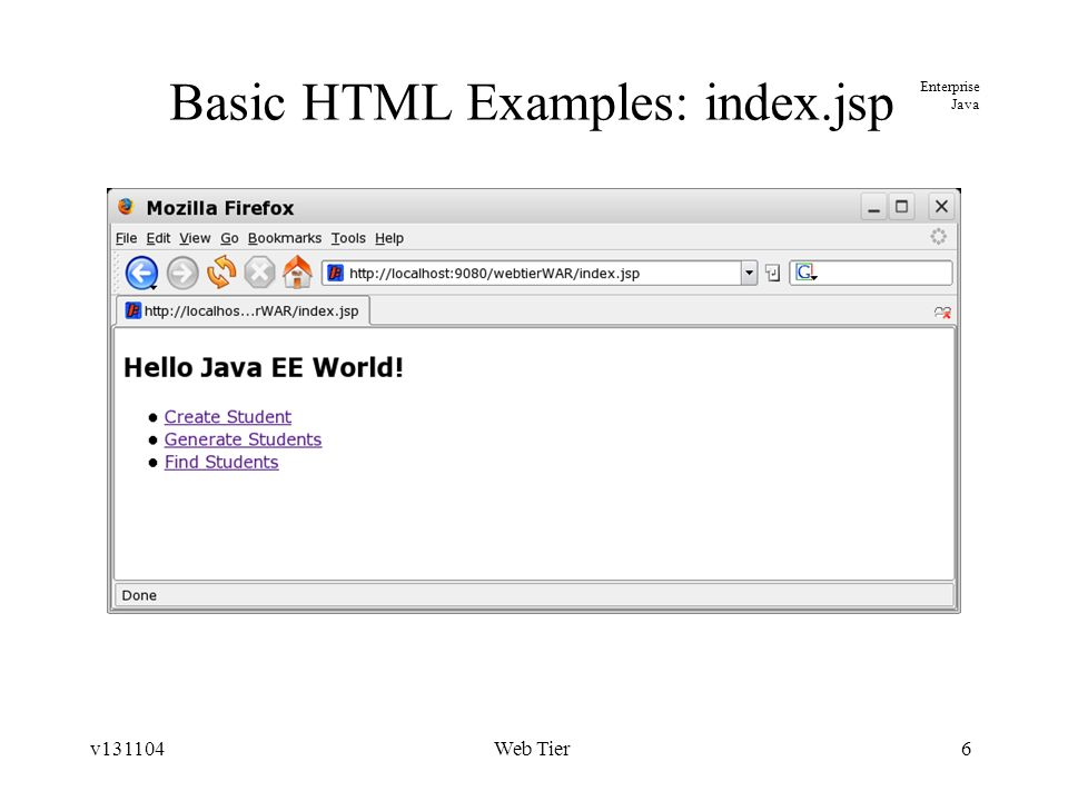 Jsp Website Examples