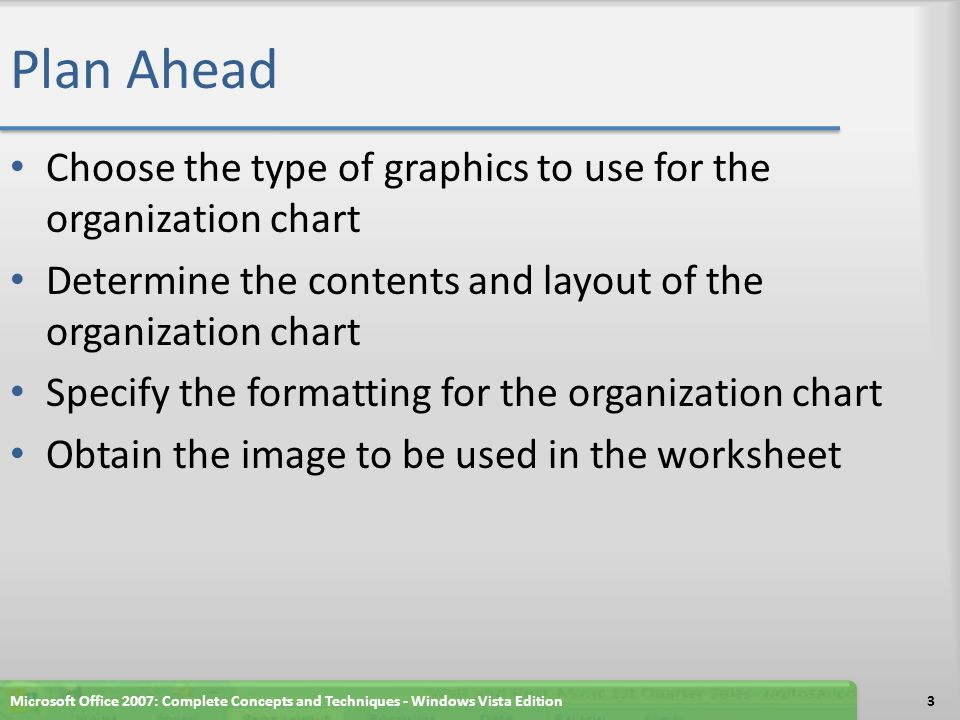 Microsoft office 2007 excel graphics feature smartart and images 3 plan ibookread Download