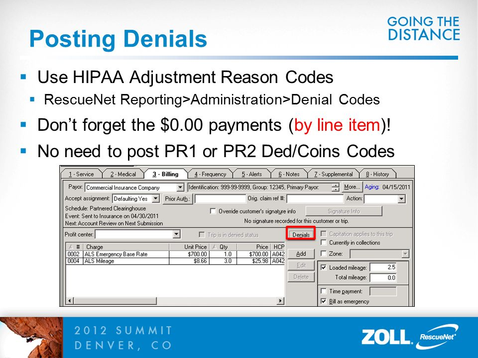 ZOLLSummit  Billing Electronic Secondary Claims Presented By