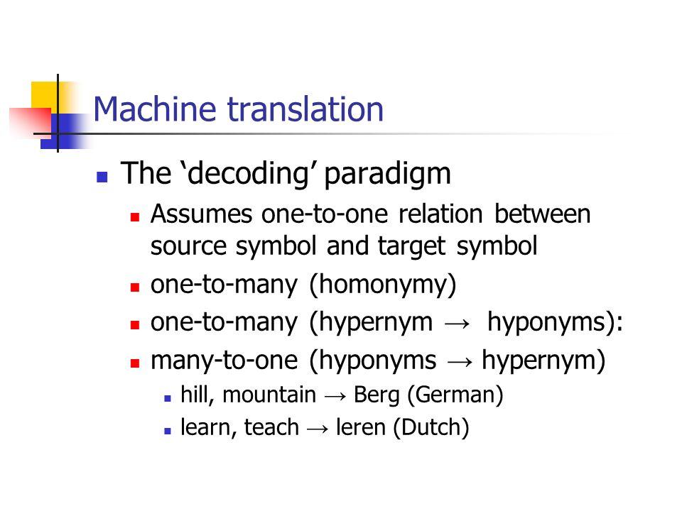 Globalisation And Machine Translation Machine Translation Mt The