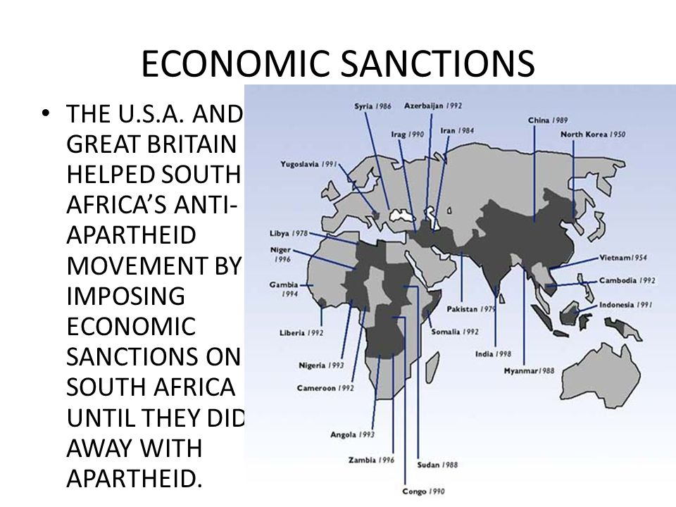 ECONOMIC SANCTIONS THE U.S.A.