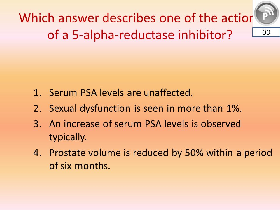 Which Answer Describes One Of The Actions Of A 5 Alpha Reductase Inhibitor