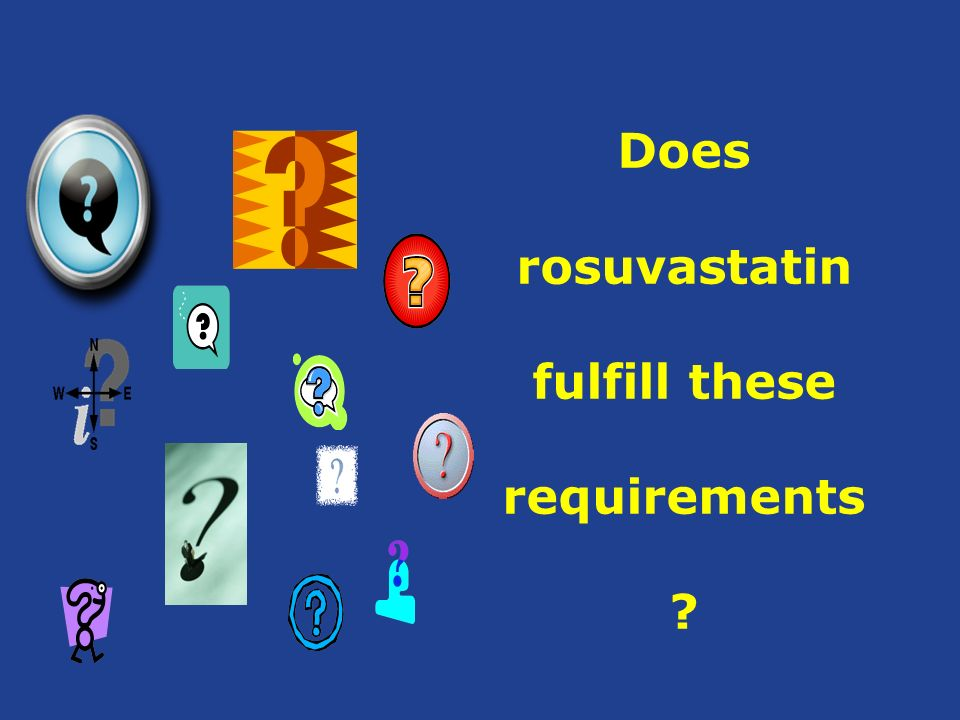 Does rosuvastatin fulfill these requirements