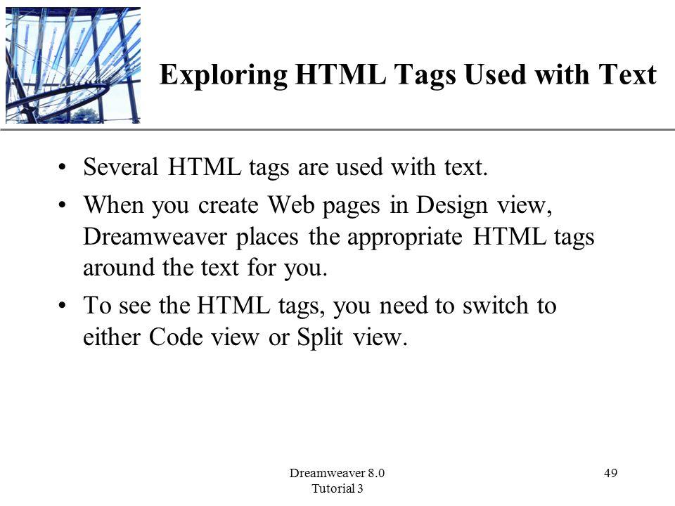 XP Dreamweaver 8 0 Tutorial 3 1 Adding Text and Formatting