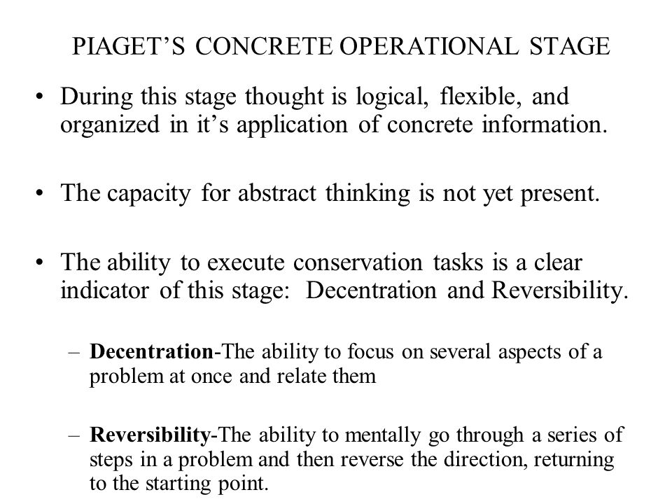 concrete operational stage conservation