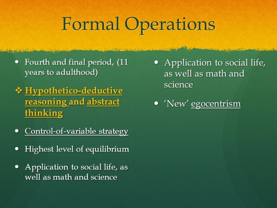 what is formal operational