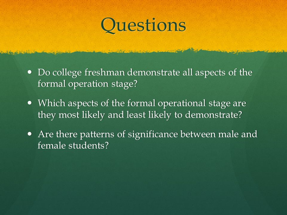 what is formal operational stage