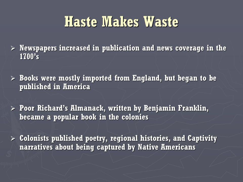 story haste makes waste