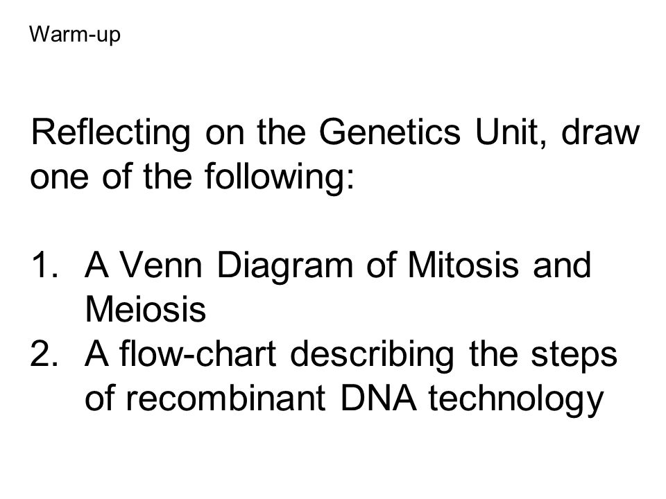 Reflecting On The Genetics Unit Draw One Of The Following 1 A