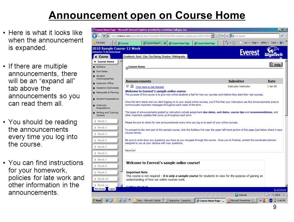 onlinecci edu everest