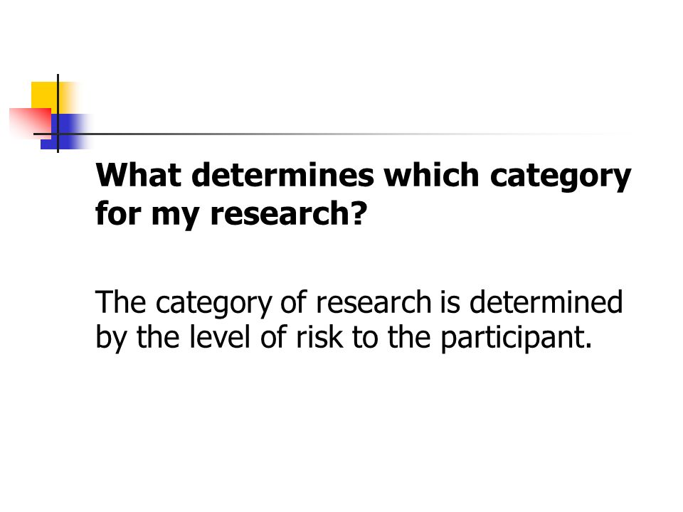What determines which category for my research.