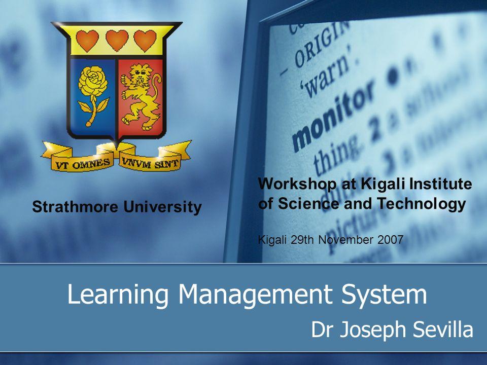 Strathmore University Learning Management System Dr Joseph
