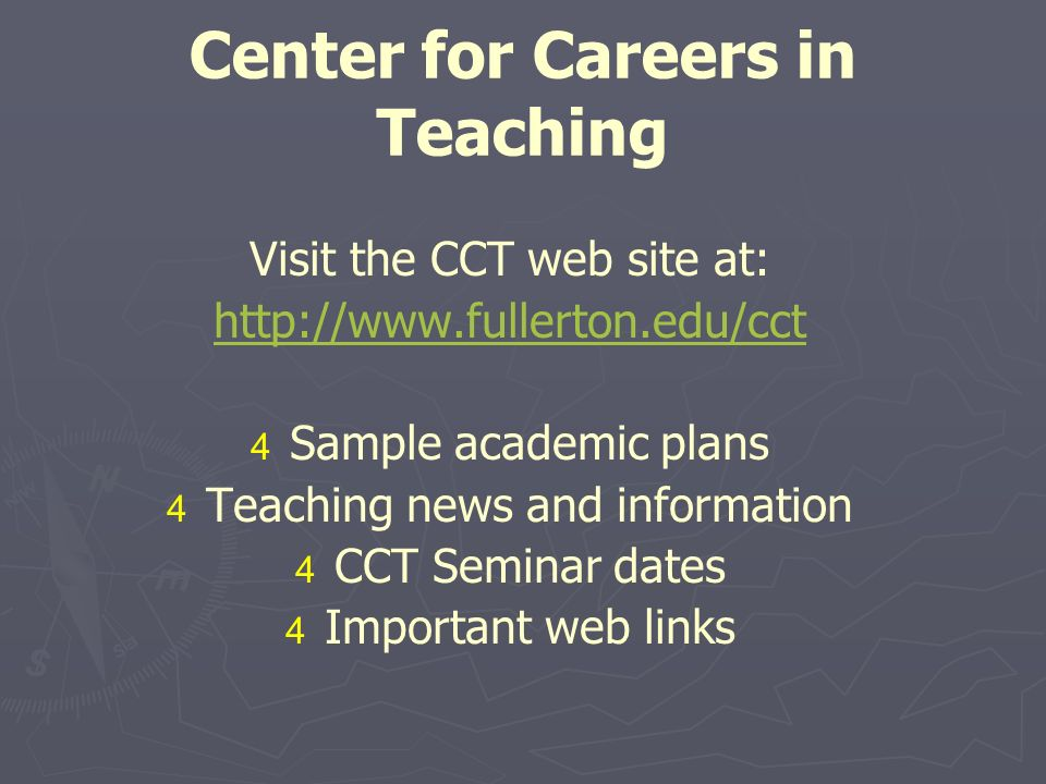 What steps should I take next.   Explore the Center for Careers in Teaching web site.
