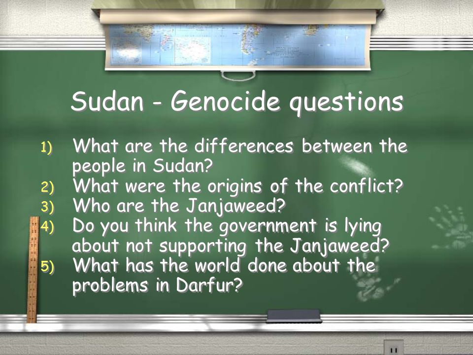 Sudan - Genocide questions 1) What are the differences between the people in Sudan.