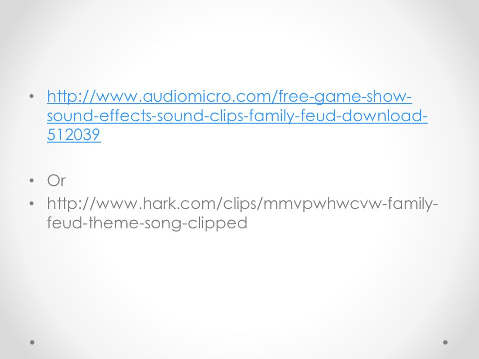 Game show sound effects download