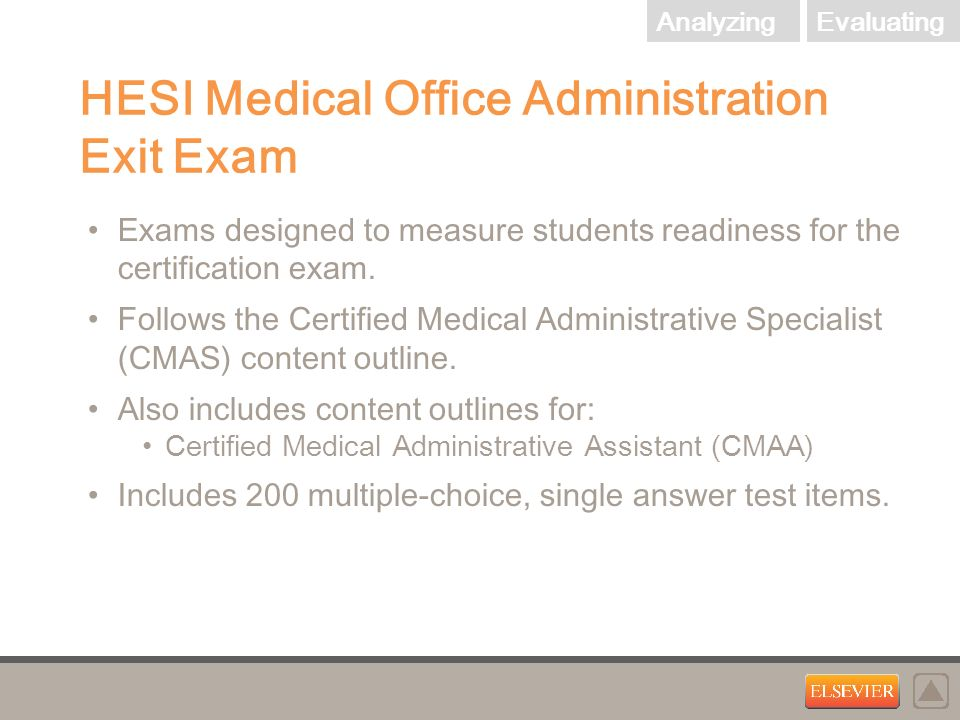 Hesi Medical Assisting Exit Exam Exams Designed To Measure Students