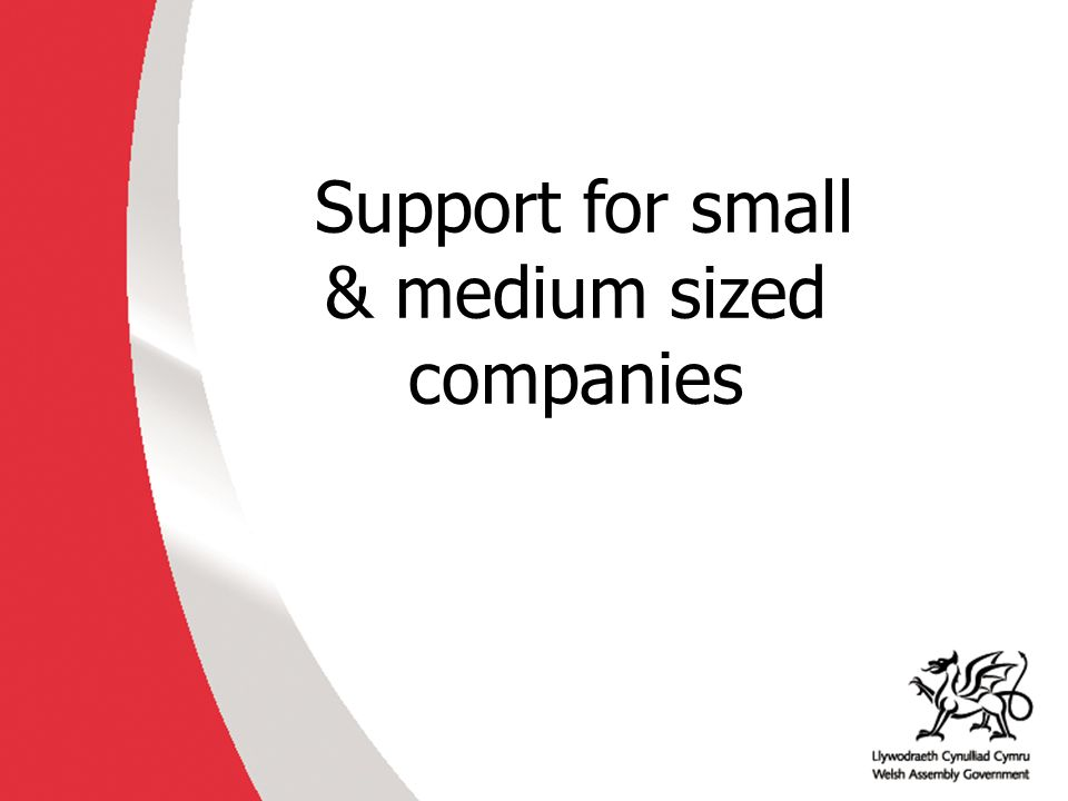 Support for small & medium sized companies