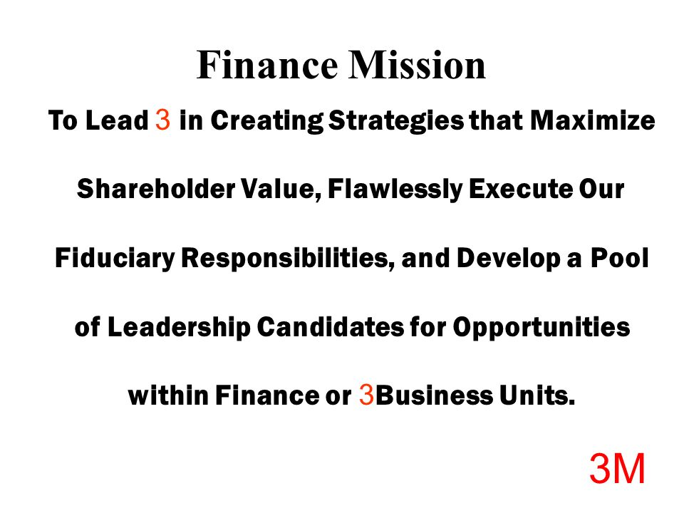 Welcome! © 3M All rights reserved  Finance Opportunities 3M