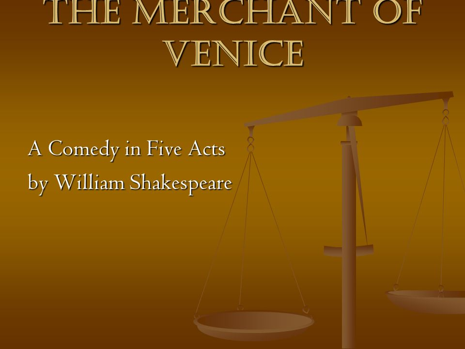 comic elements in the merchant of venice