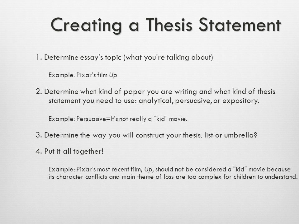 Thesis Don'ts  Announce your thesis: In this essay, I am going to tell you about Mt.