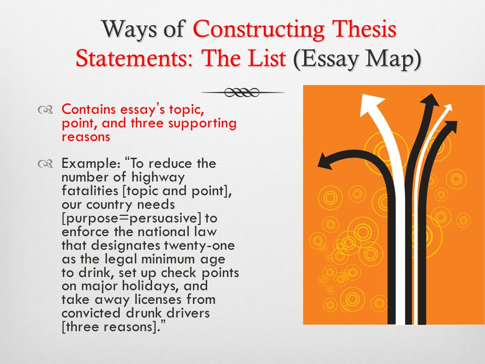 Kinds of Thesis Statements: Expository*  An expository (explanatory) paper explains something to the audience.