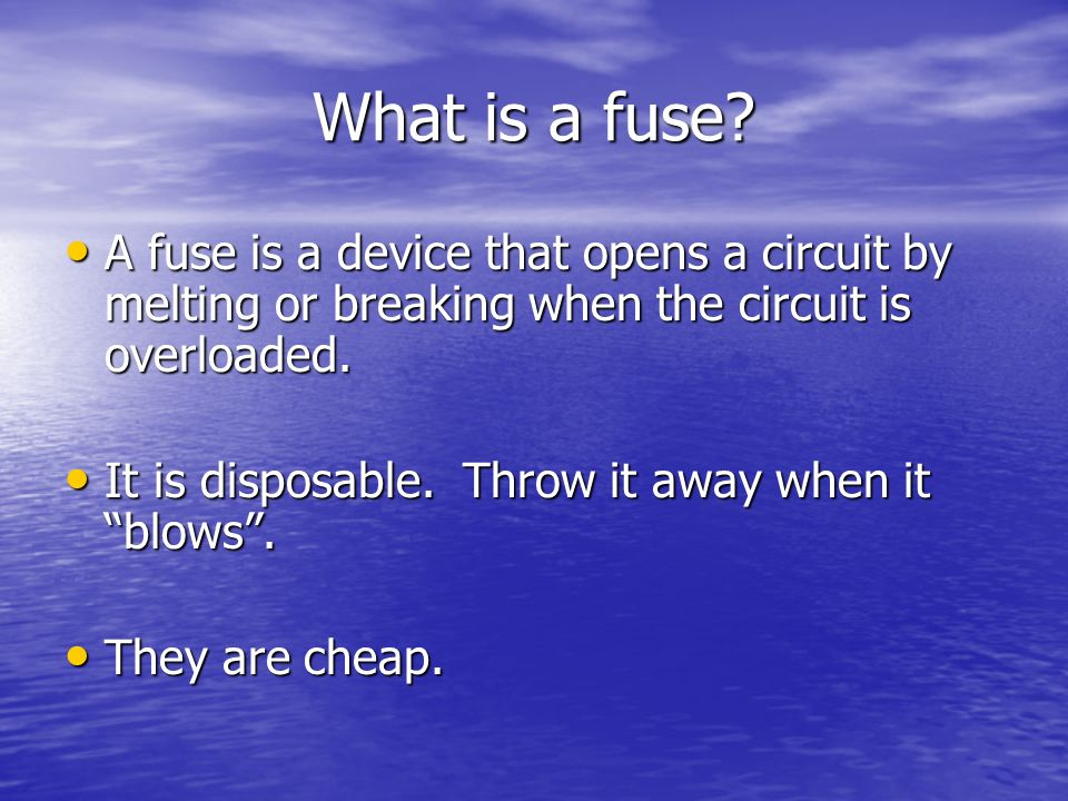 What is a fuse.