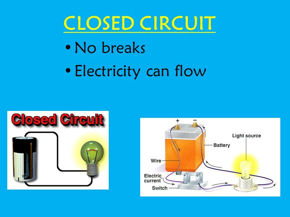 Circuit diagram Energy soucre switch Loadwires Scientists usually draw electric circuits using symbols.