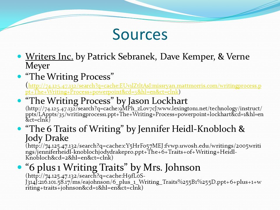 Sources Writers Inc.