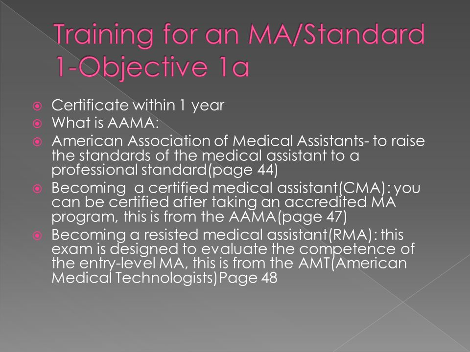 Certificate Within 1 Year What Is Aama American Association