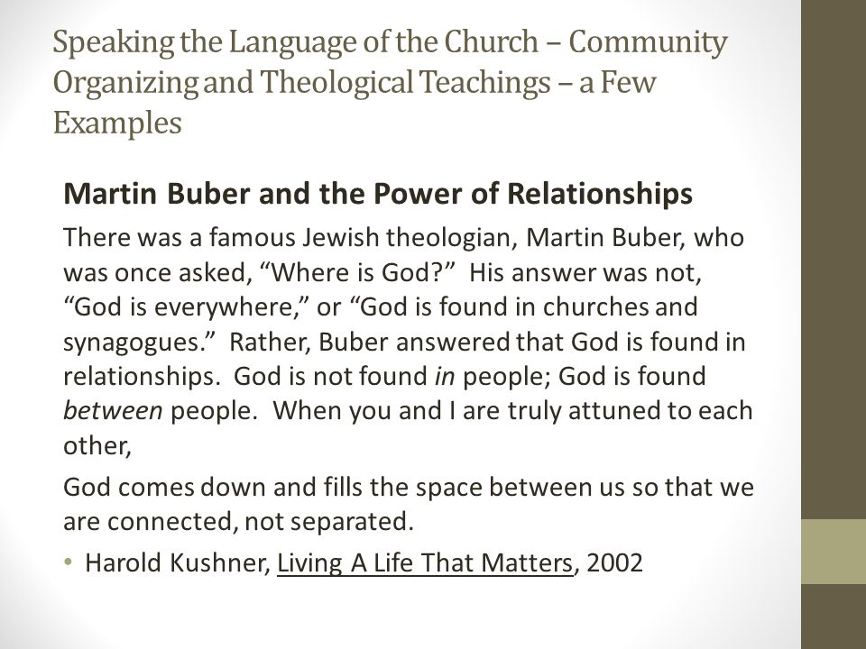congregation based community organizing presentation by paul