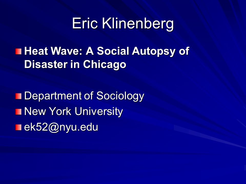 heat wave a social autopsy of disaster in chicago summary