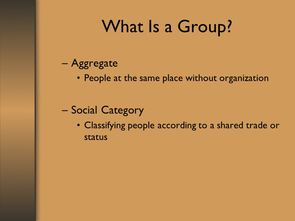 What Is a Group.