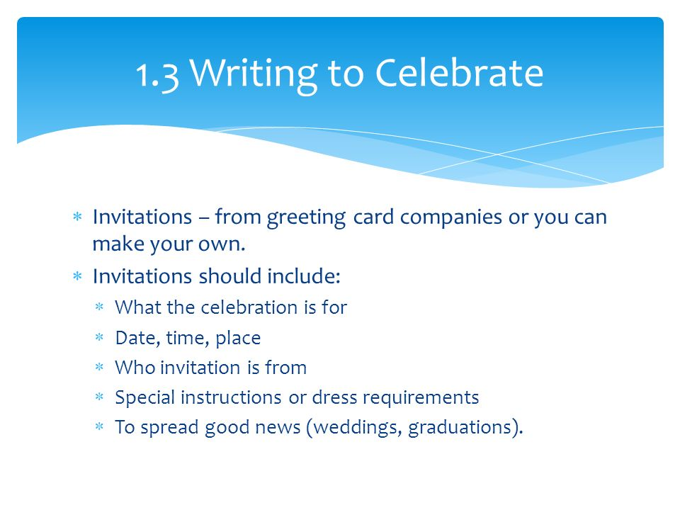  Invitations – from greeting card companies or you can make your own.