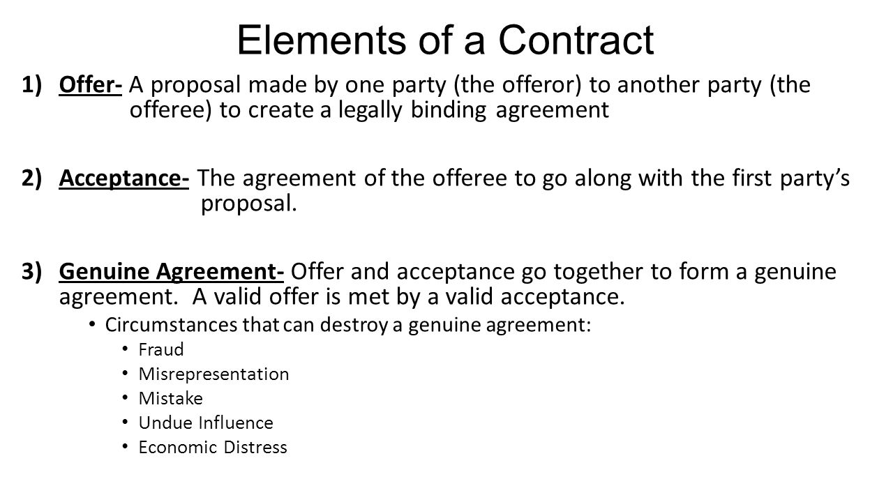 Contracts Chapter 4 What Is A Contract Contract Is Any Agreement